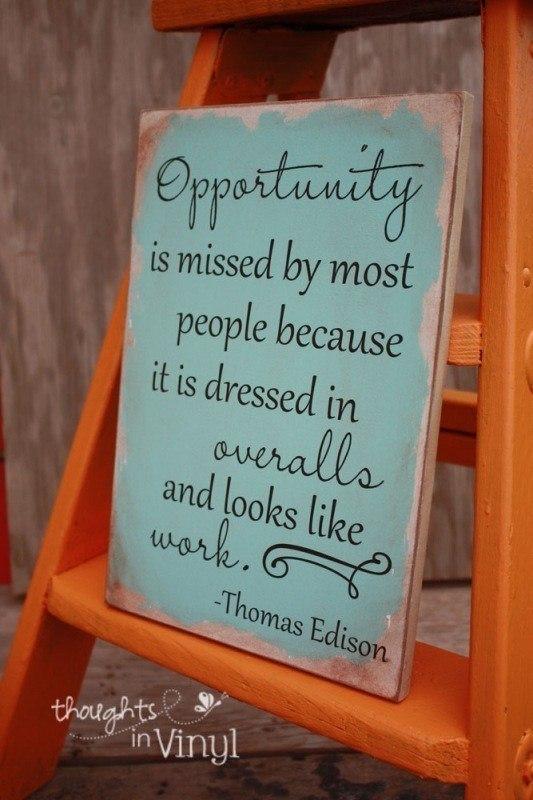 Opportunity Thomas Edison Quote