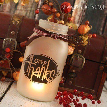 Mason Jar Lantern Holiday Decals