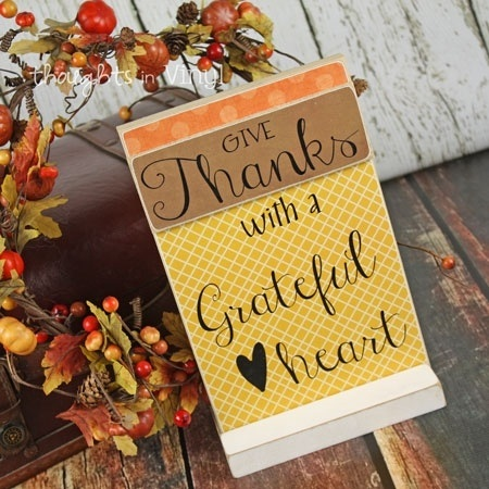 Give Thanks Layered Plaque