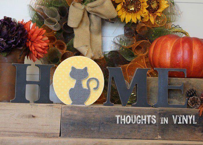 Interchangeable Home Letters Cat