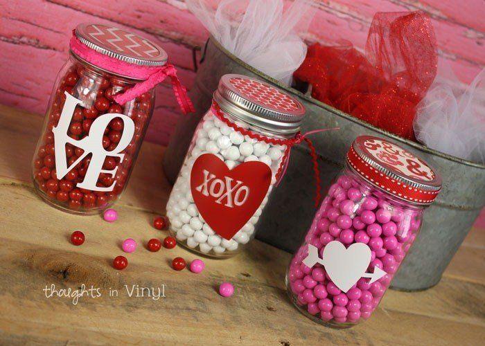 Mason Jar Valentines Decals