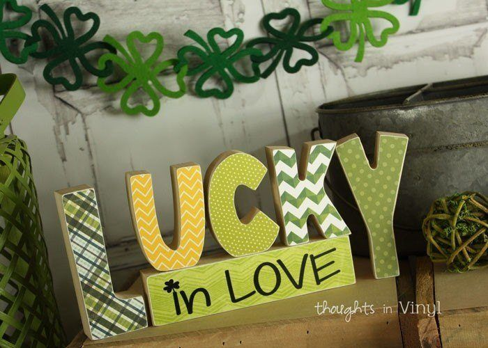 Wooden Lucky In Love Letters