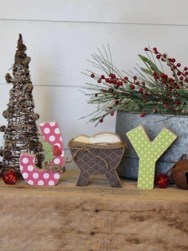 Joy Letters With Manger