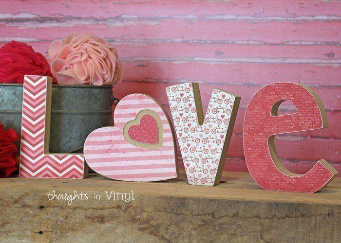 Wooden Love Letters Heart