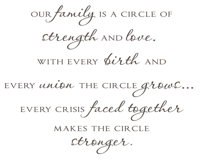 Quotes About Family Love And Strength : Our family is a circle of strength and love