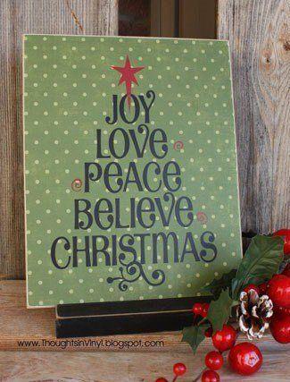 Christmas Word Tree Small