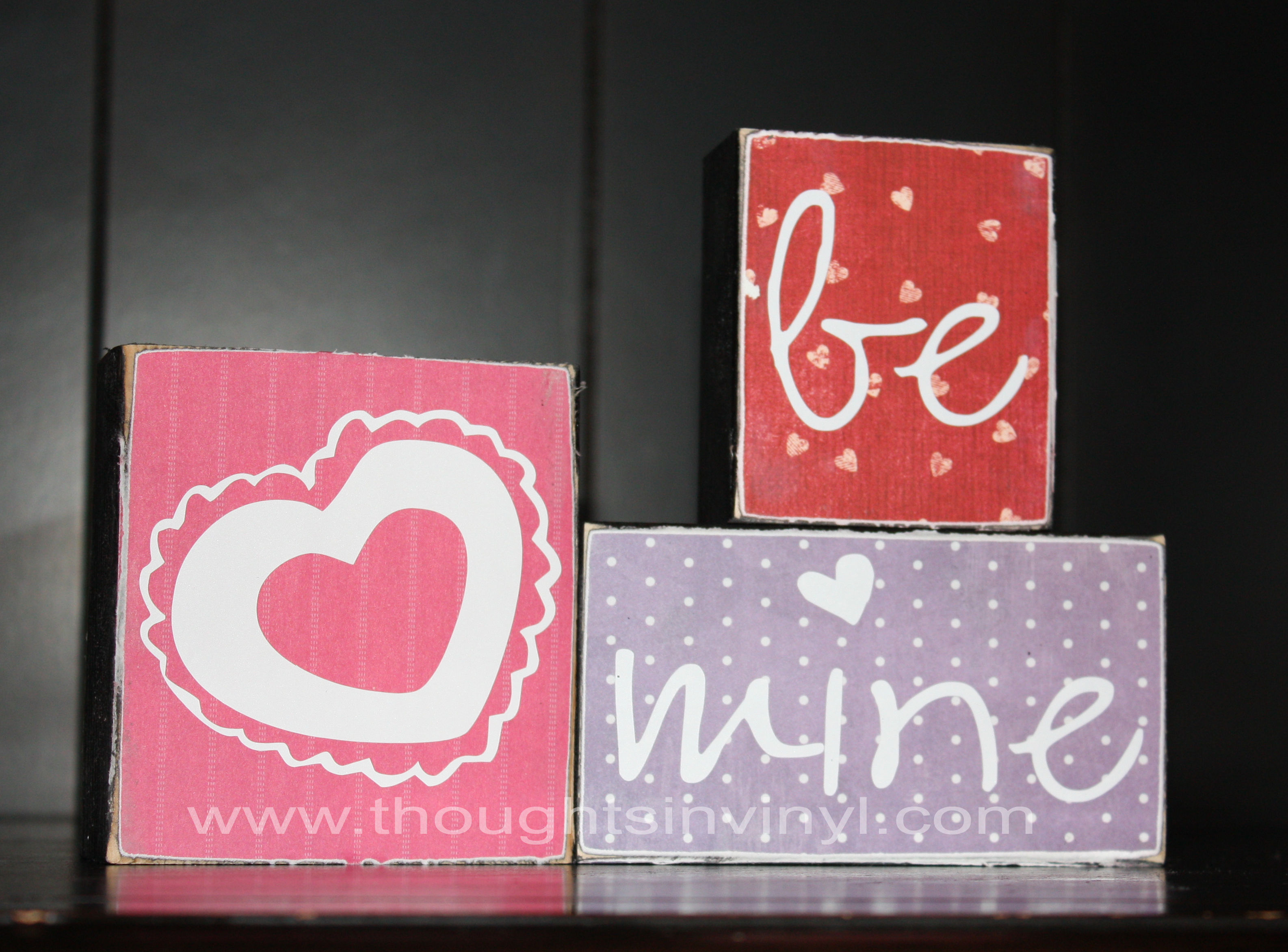 January Craft Valentine S Day Thoughts In Vinyl