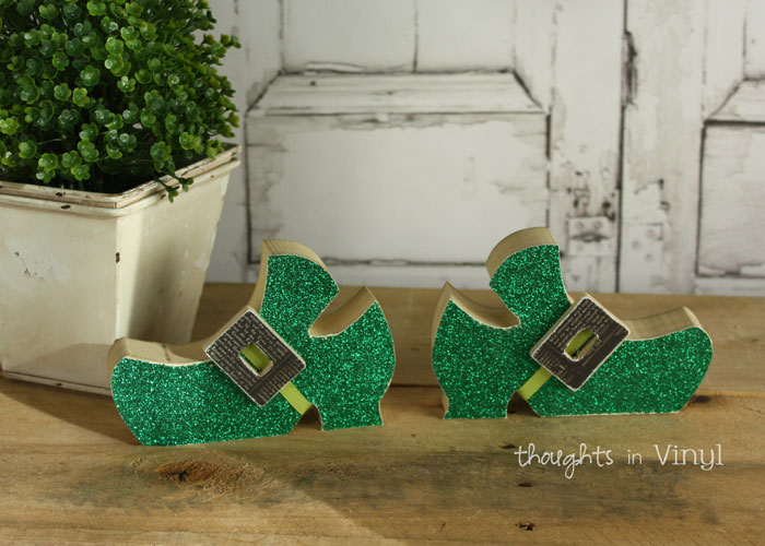 Wooden Crafts St Patrick S Day Leprechaun Shoes