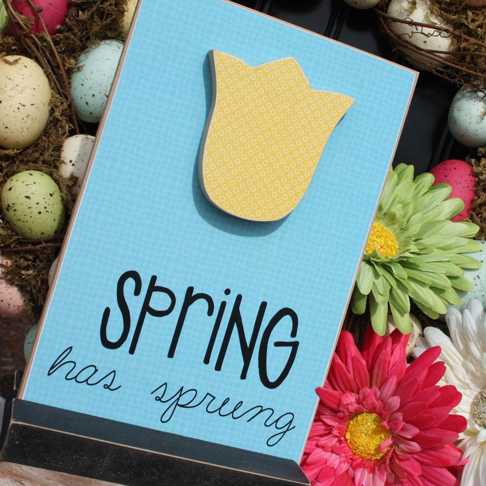 Spring craft | tulip plaque