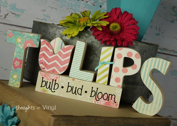 Wooden letters crafts for spring and summer plus some for Wooden letters for crafts