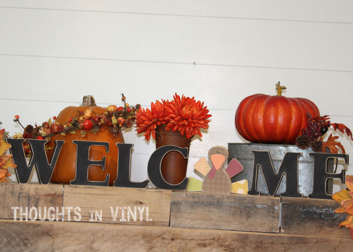 Interchangeable Wooden Welcome Letters