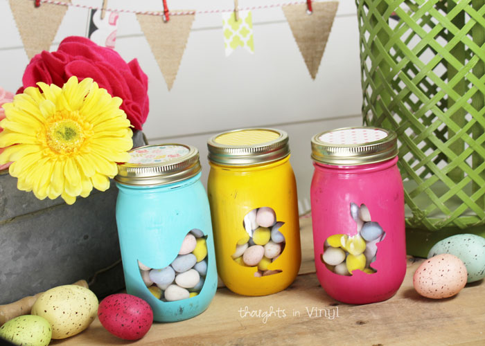 Easter Peeps Mason Jar Decals