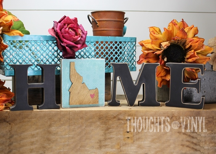 Personalized state insert for your interchangeable home letters