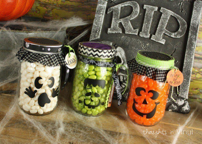 Mason Jar Halloween Decals