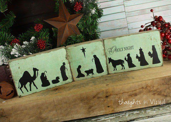 Nativity Silhouette Blocks