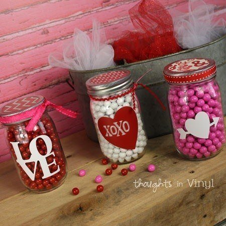 Mason Jar Valentines Decals