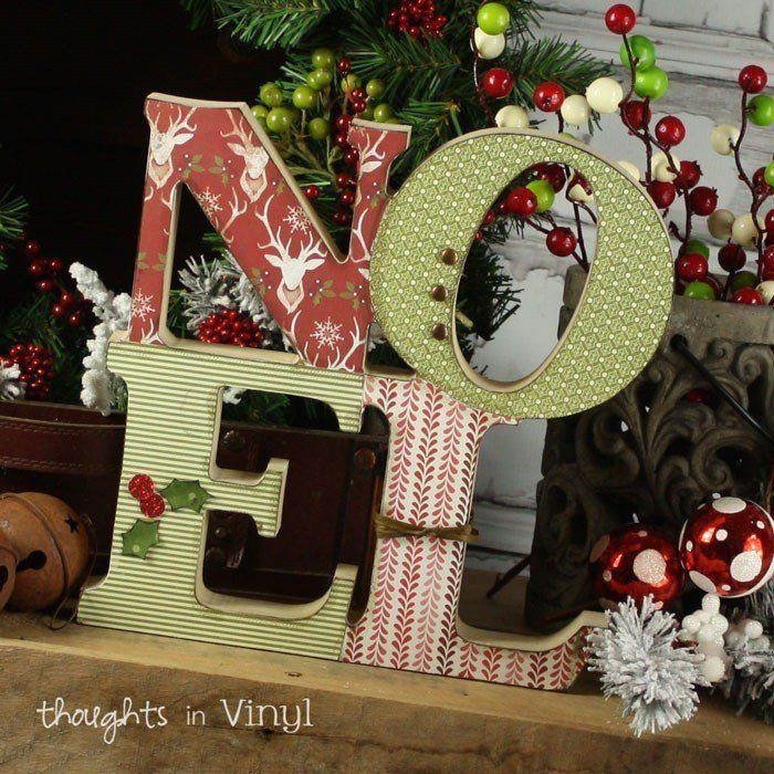 Noel letters for Wood crafts to make for christmas