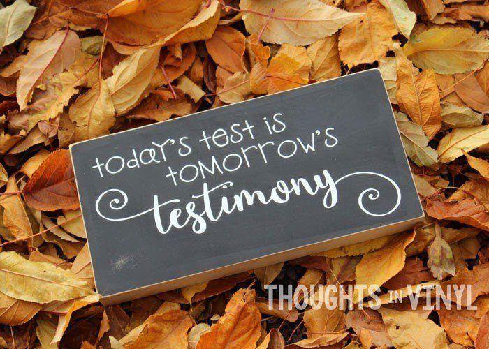 Today S Test Tomorrow S Testimony