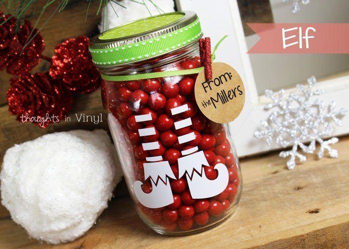 Christmas Bunch Mason Jar Decals