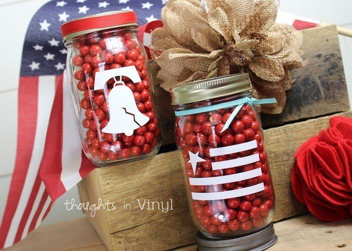 4th Of July Mason Jar Decals