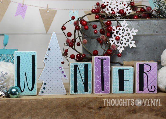 Winter Block Letter Set