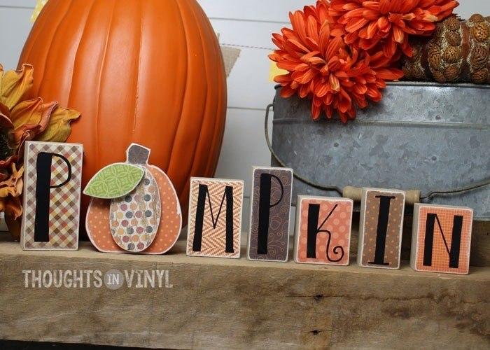 Pumpkin Block Letter Set