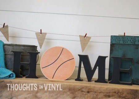 interchangeable home letters basketball