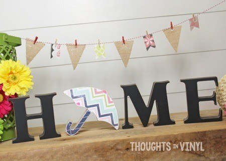 interchangeable home letters umbrella