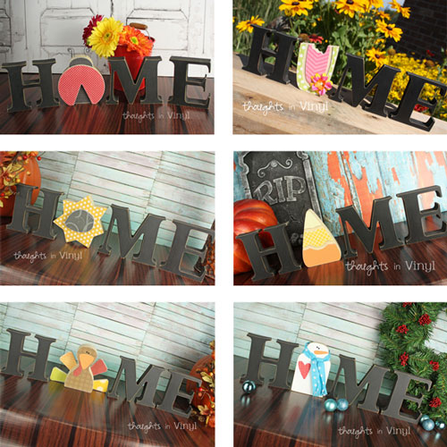 Wood Letters Interchangeable Home Letters Thoughts In