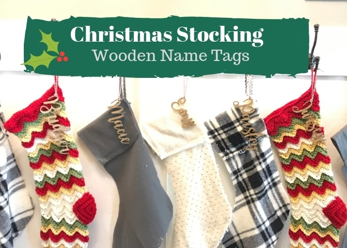 Wooden Christmas Stocking Tags