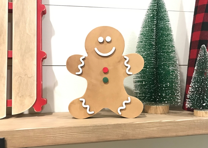 Wooden Gingerbread Man