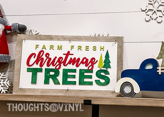 Farm Fresh Christmas Trees Wood Sign