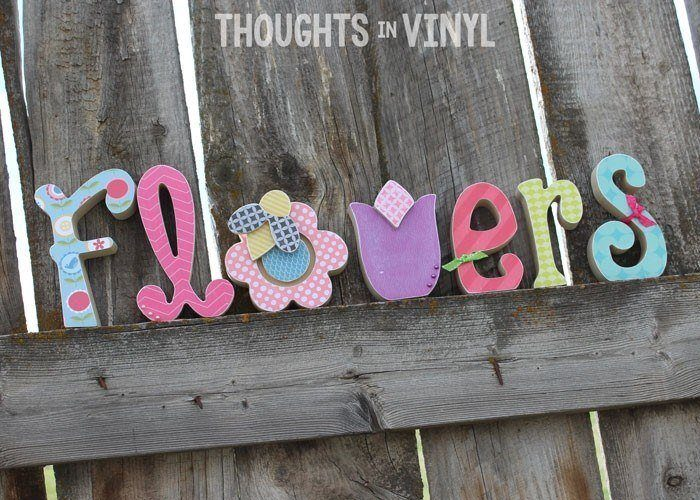 Vinyl letters wooden letters super saturday crafts for Wooden letters for crafts